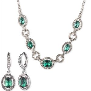 Givenchy diamond necklace and earrings